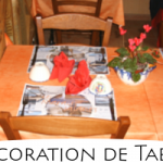 Exemple de dressage, décoration de table