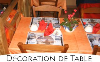 Exemple de dressage, décoration de table